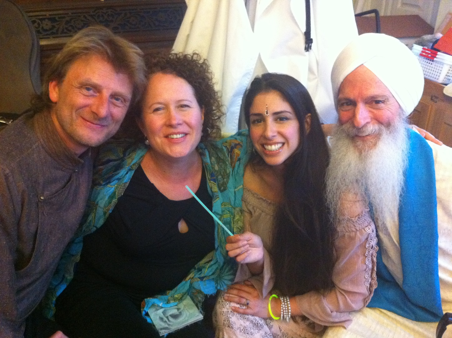 With Guruganesha, Hans Christian and Paloma Devi
