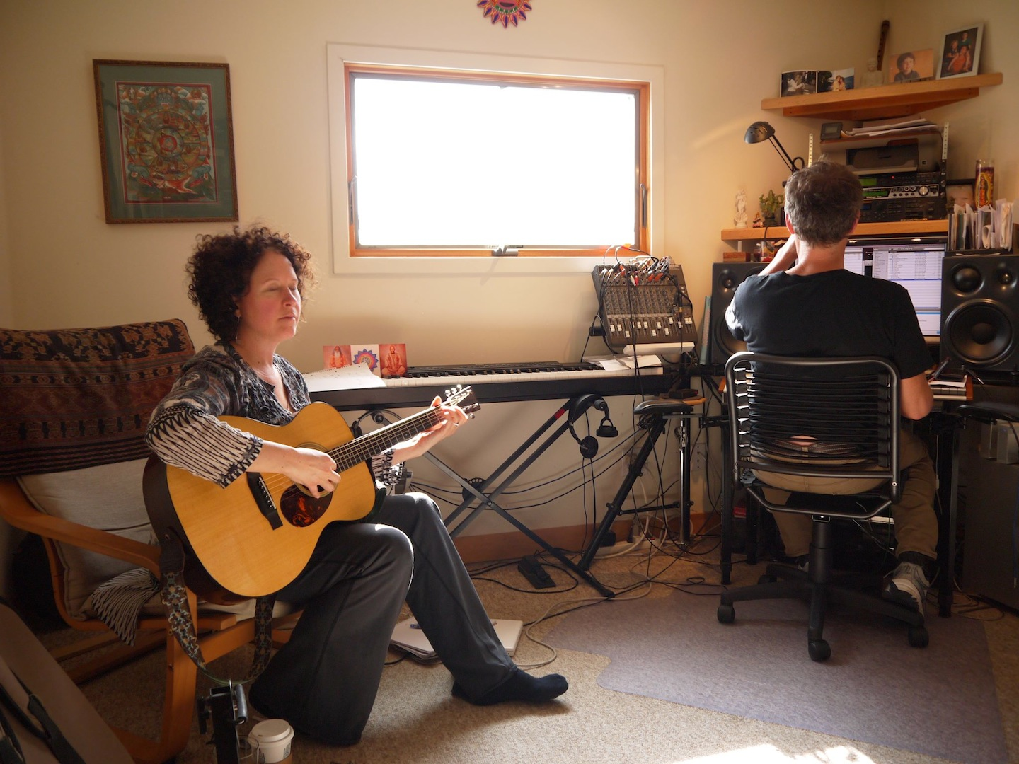 """With Ben Leinbach at Old Bull Studios, recording """"Igniting the Beauty"""""""