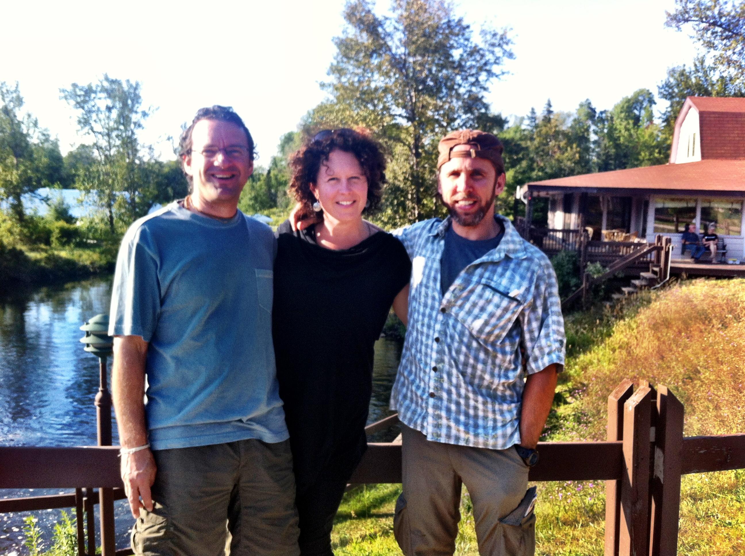 Adam Bauer, Brenda and Narada Wise at Michigan Yoga Fest