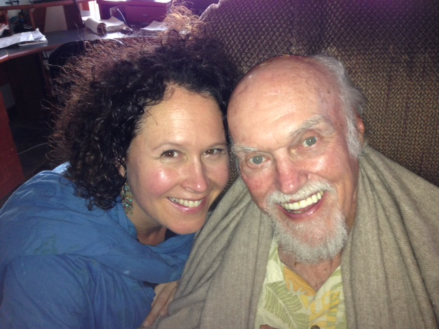 With beloved Ram Dass in Maui, 2013